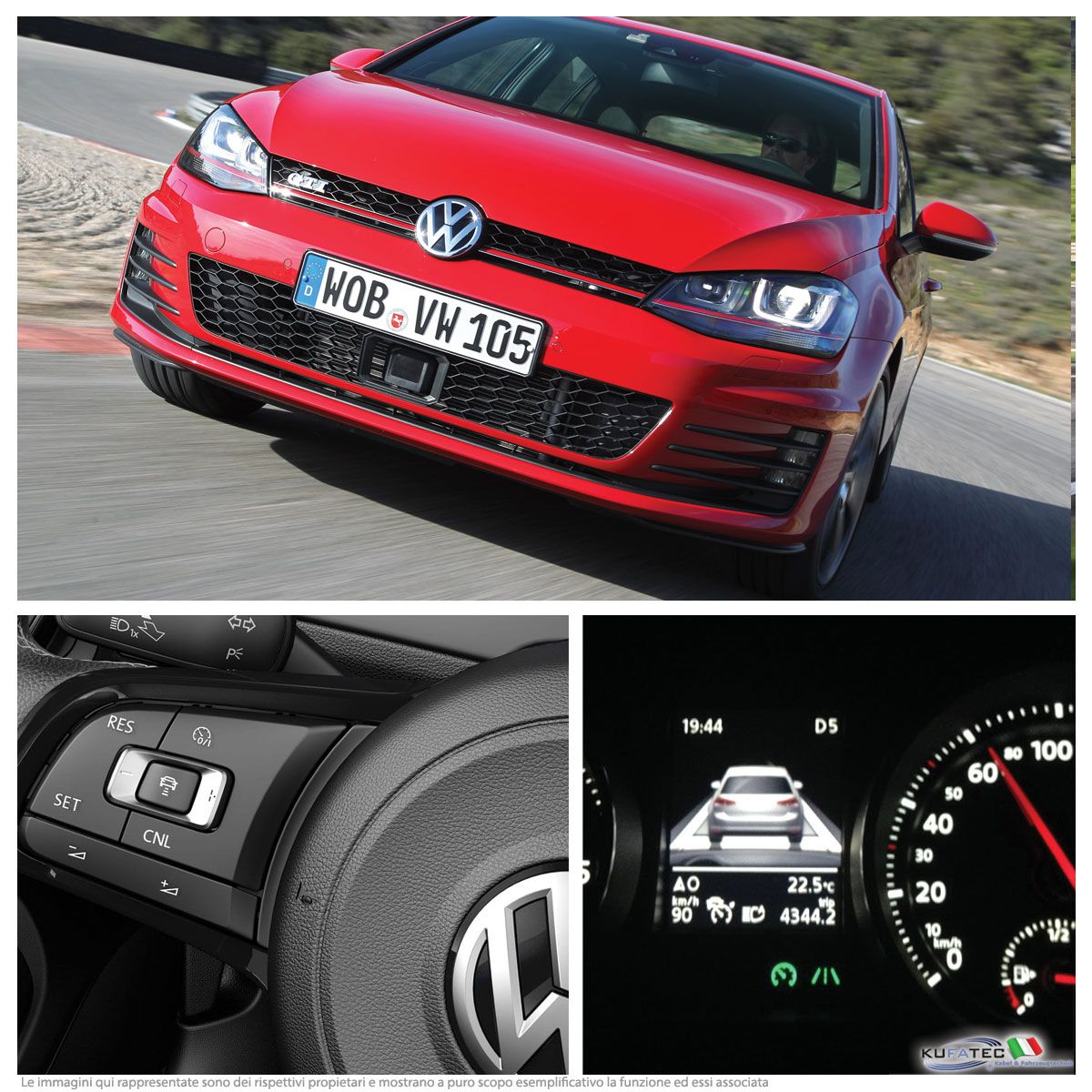 adaptive cruise control acc vw golf vii 7 navistore. Black Bedroom Furniture Sets. Home Design Ideas