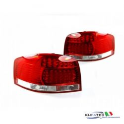 LED Rear Lights Audi A3 8P - Red/ Crystal