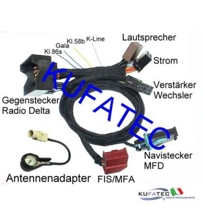 Adapter Radio Delta to MFD for VW