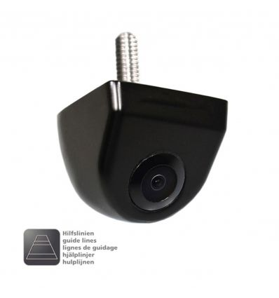 AMPIRE KCN820 rear view camera, mirrored with guide lines