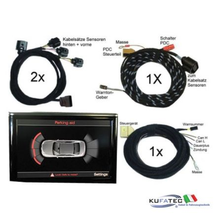Audi Parking System - Front + Rear - Wiring - Audi A8 4H