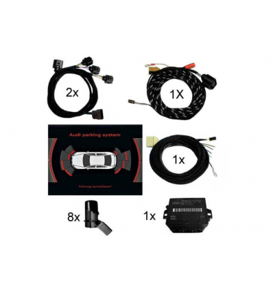 APS Parking System Plus - Ant. & Post. incl. grafica - Retrofit kit - Audi Q7 4L