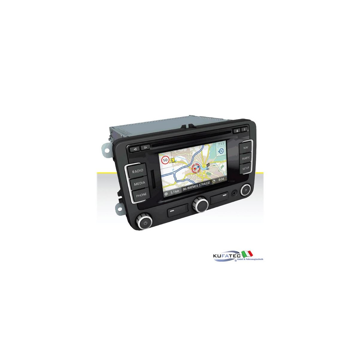 radio navigation system rns 315 display touch 5 incl. Black Bedroom Furniture Sets. Home Design Ideas