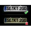 Luci targa LED - Retrofit kit - VW Touareg 7P