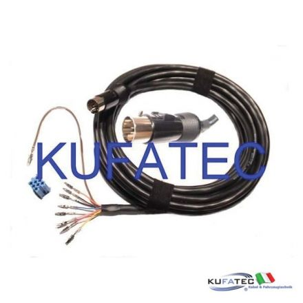 CD Changer Cable - Audi Round Plug - 13-Pin Mini-ISO 6m