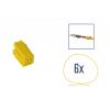 Kit di riparazione connettore 8 pin giallo per scatola contatti MINI ISO
