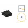 Kit di riparazione connettore 8 pin nero per scatola contatti ISO
