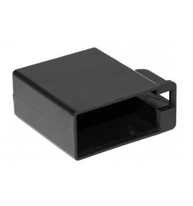 Scatola contatti piatta ISO 8 poli nero femmin. Confezione da 10 pz.