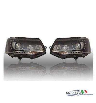 Bi-Xenon Headlights LED DTRL - VW T5 7E