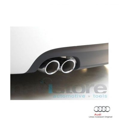 Rivestimento terminale scarico sportivo cromato Audi TT 8J