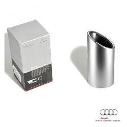 Rivestimento terminale scarico sportivo singolo (alluminio opaco) Audi A1 8X A3 8P