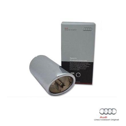 Rivestimento terminale scarico sportivo cromato Audi A3 8V (1.6 TDI)