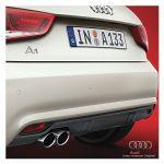 Diffusiore posteriore per veicoli con doppio terminale di scarico - Competition Kit - Audi A1 8X