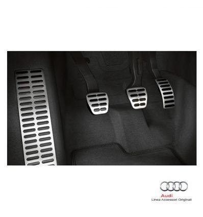 Set copripedali e copertura per poggiapiedi in look alluminio - Audi A1 8X cambio manuale