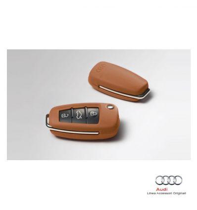 Mascherina in pelle per chiave d'accensione - Col. Cognac (Marrone)