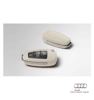 Mascherina in pelle per chiave d'accensione - Col. Alabastro (Bianco)