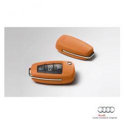 Mascherina in pelle per chiave d'accensione - Col. Arancione Segnale