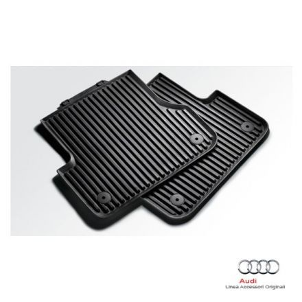 Tappetino posteriore in gomma nera - Audi A6 4G A7 4G
