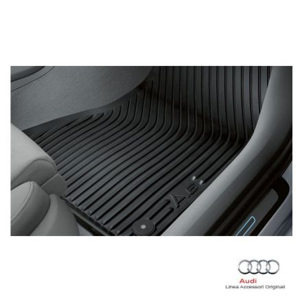 Tappetino anteriore in gomma nera - Audi A6 4G