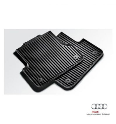 Tappetino posteriore in gomma nera - Audi A4 8K, A5 Sportback