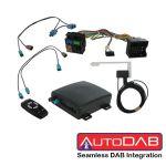 AutoDAB® DAB / DAB+ integration  VW Seat Skoda Radio / Navigazione con connettore Quadlock - Senza volante multifunzione