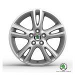 """Cerchio in lega ATRIA 6,5Jx16"""" per pneumatici 205/45 R16 - Nuova Fabia, Nuova Fabia Wagon e Roomster"""