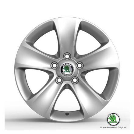 """Cerchio in lega """"Moon"""" 7Jx16'', ET 45 per pneumatici 205/55 R16 - Yeti, Nuova Superb e Nuova Superb Wagon"""