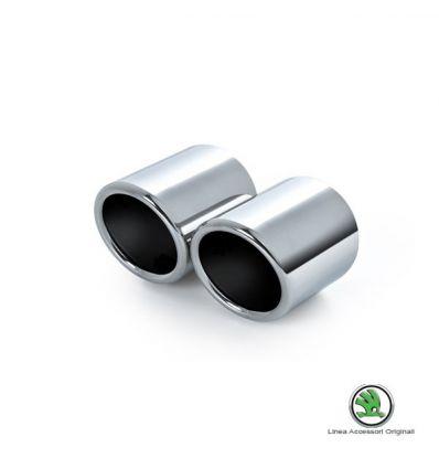 Set rivestimento cromato tubo di scarico - Skoda Yeti 1.4 TSI, 2.0 TDI e 1.2 TSI (fino a produz. 31.05.2010)