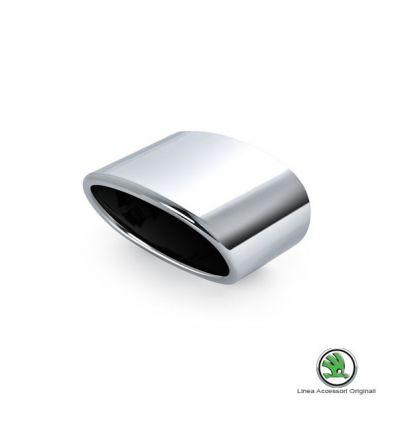 Set rivestimento cromato tubo di scarico - Skoda Yeti 1.2 TSI da produz. 01.06.2010 in avanti