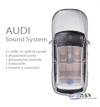 audi sound system upgrade audi q5 8r navistore. Black Bedroom Furniture Sets. Home Design Ideas