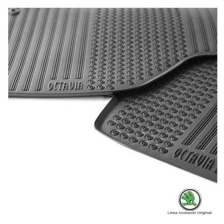 Tappeti gomma/tessuto Kit 4pz - Nuova Octavia e Nuova Octavia Wagon