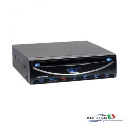 DVD player with USB interface (3/4 DIN) - Ampire DVX102