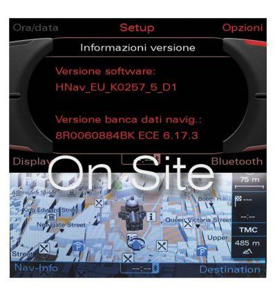 2016 Europa Audi MMI 3G - Digital Road Map - On Site - Audi Navigation Plus MMI 3G HDD / MMI 3G DVD