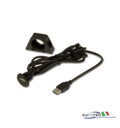 USB panel socket with cable