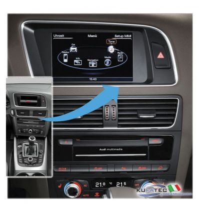 Audi Infotainment MMI High 3G+, incl. Navigation HDD - Upgrade - Audi Q5 8R Facelift con sistema di navigazione DVD