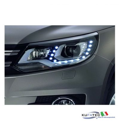 Bi-Xenon Headlights LED DTRL - Upgrade - VW Tiguan 2012 in avanti con DCC