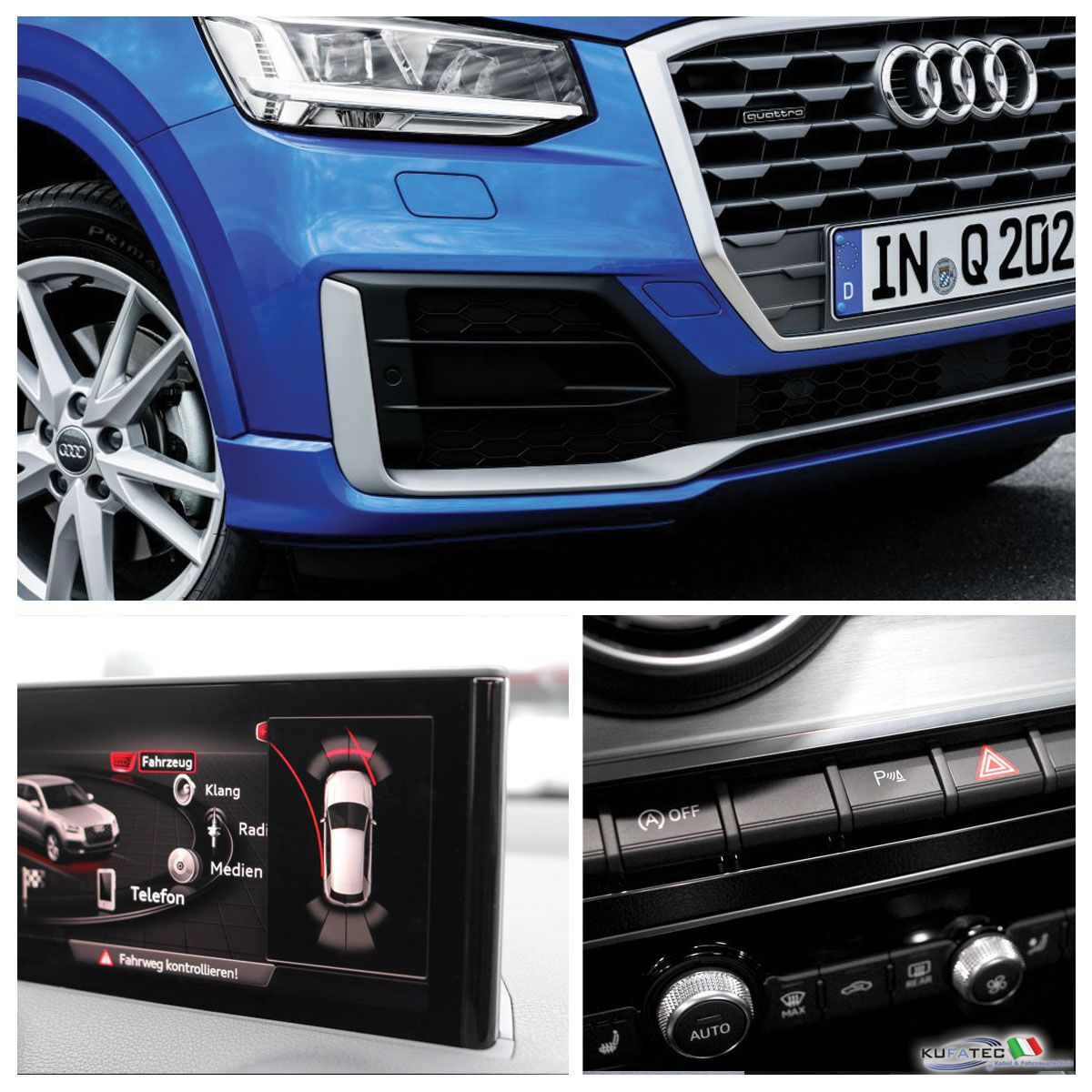 aps audi parking system plus ant grafico retrofit audi q2 ga navistore. Black Bedroom Furniture Sets. Home Design Ideas