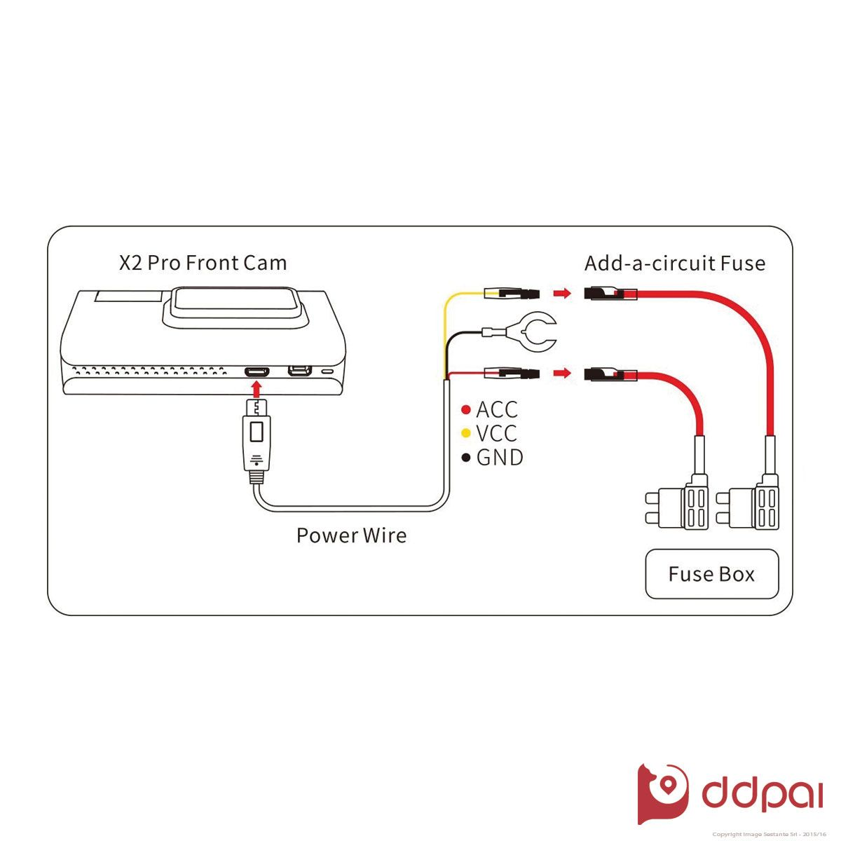 ddpai x2 pro add-a-fuse cable kit