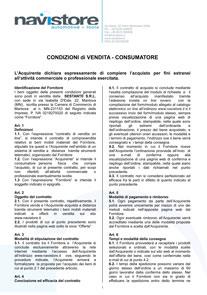 Termini e condizioni Consumatore 2014